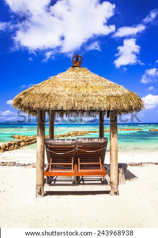 relax in tropical paradise - stock photo