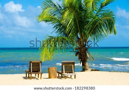 Relax on beach - stock photo
