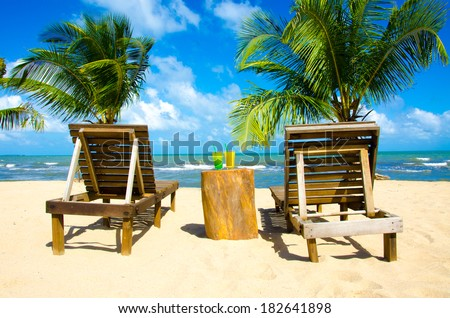 Relax on beach - stock photo