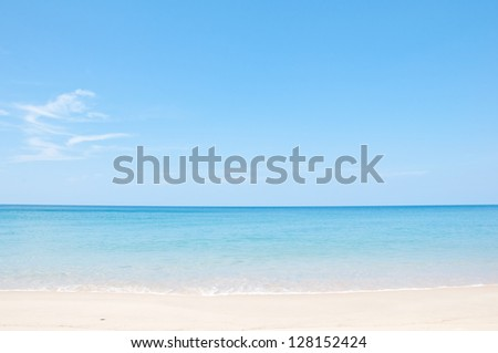 Relax on the beach and tropical sea - stock photo