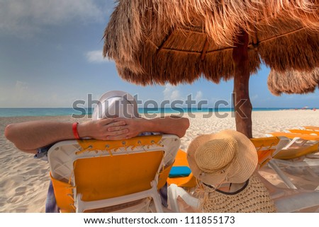 Relax on the Caribbean beach in Mexico