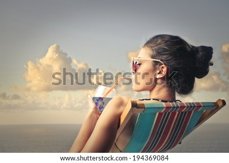 relax outside - stock photo