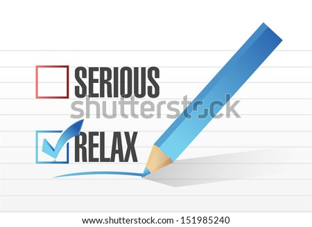 relax over serious illustration design over a notepad paper