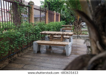 Relax Table in garden