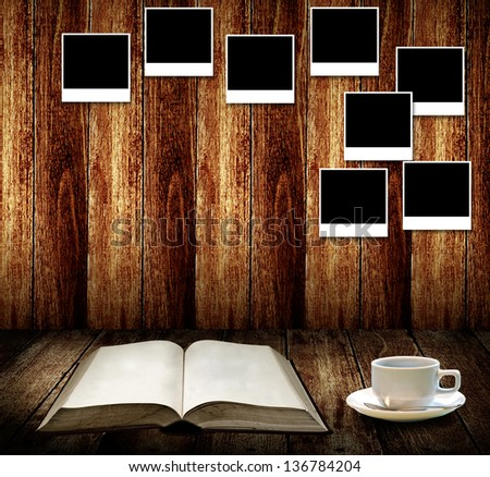 Relax with coffee and good memories - stock photo