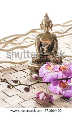 relaxation at the beauty spa with spirituality - stock photo