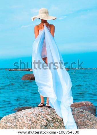 Relaxation Joy Nude - stock photo
