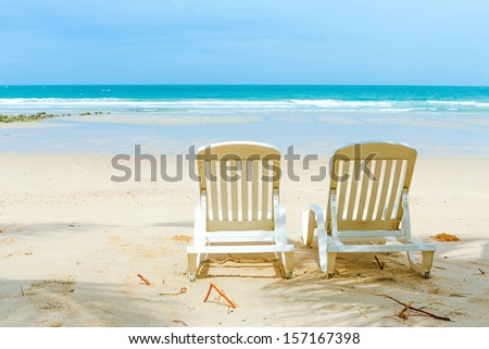 Relaxation on beach