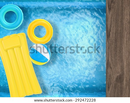 relaxation on pool  - stock photo