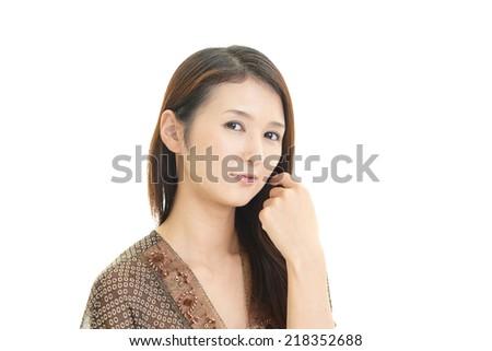 Relaxed beautiful woman. - stock photo