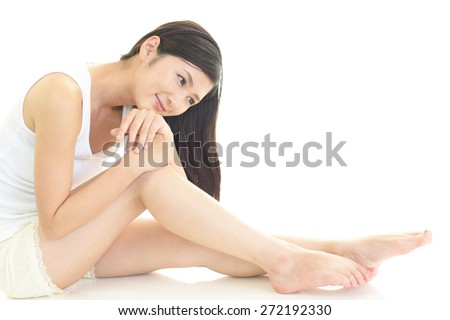 Relaxed beautiful young woman. - stock photo