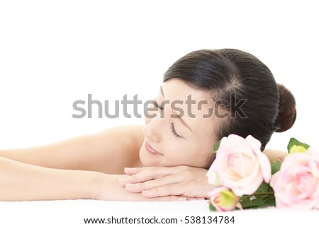 Relaxed beautiful young woman