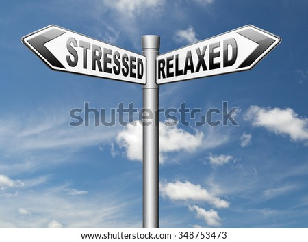relaxed stressed therapy to take it easy relax and be stress free assessment and management
