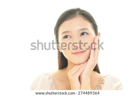 Relaxed young woman. - stock photo