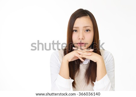 Relaxed young woman.