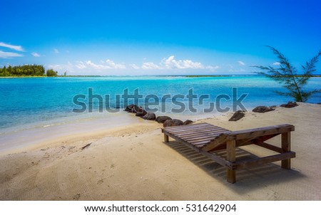 Relaxing at the beach in Bora Bora