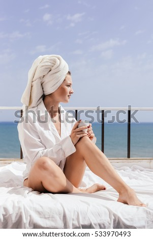 Beautiful Drinking Lady Rich Tea Stock Images, Royalty ...