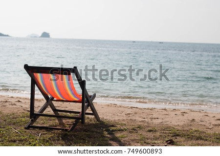 Relaxing beach, Vacation holidays background wallpaper