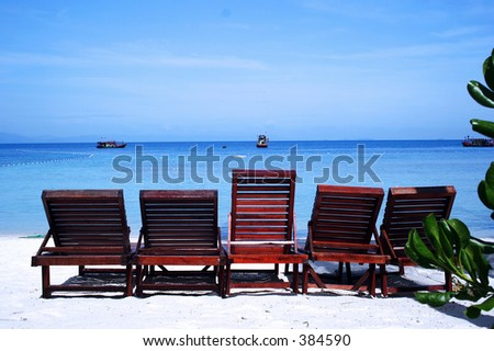 Relaxing chair on beach.