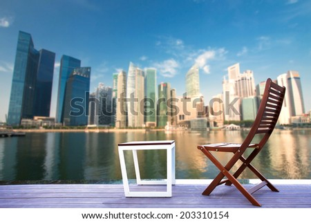 Relaxing corner with Singapore  - stock photo