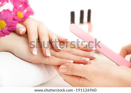 Relaxing day at beauty salon. - stock photo