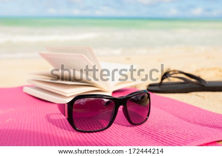 Relaxing day on the beach. - stock photo