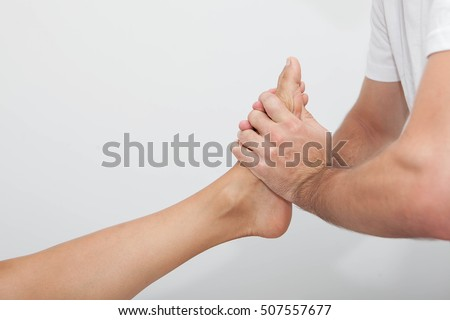 relaxing foot massage therapy