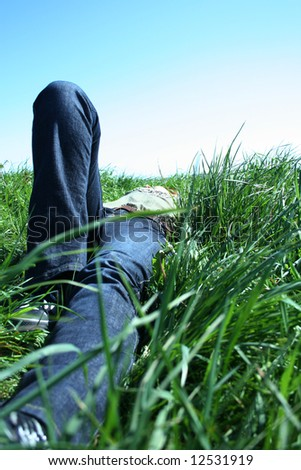 Relaxing girl - stock photo