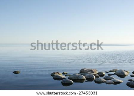 Relaxing ocean horizon from Ã?Â?land, Sweden. - stock photo