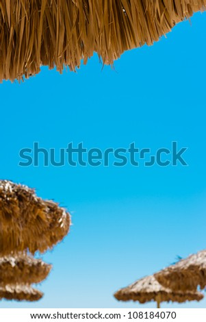relaxing on a tropical beach - stock photo