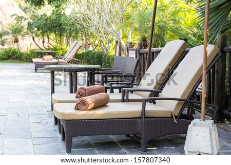 Relaxing seats - stock photo