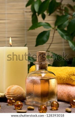 Relaxing spa and healthy body care setting
