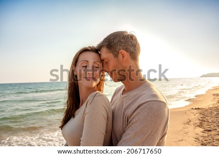 relaxing sweet sunrise down on tropical coast - stock photo