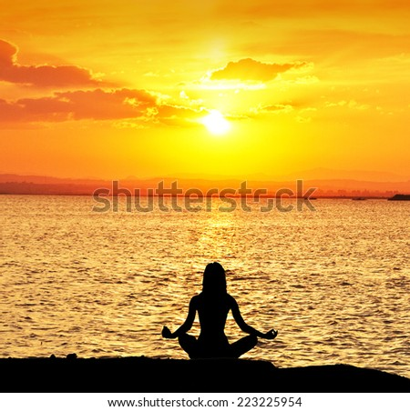 relaxing the body from the sun - stock photo
