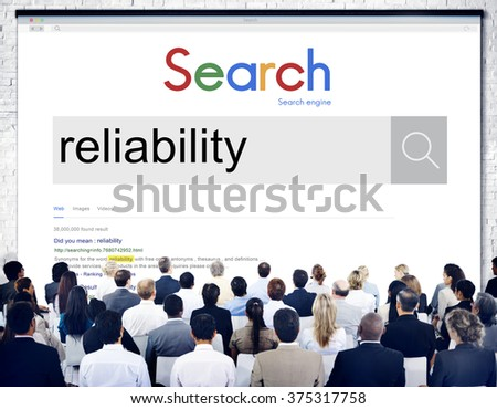 Reliability Accuracy Network Network Computer Concept - stock photo