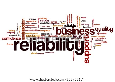 Reliability word cloud - stock photo