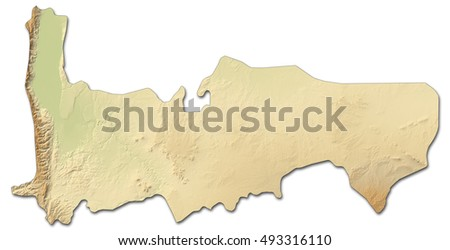 Relief map - Hama (Syria) - 3D-Rendering