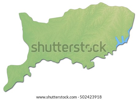 Map Of Rio Negro Stock Images RoyaltyFree Images Vectors - Uruguay relief map