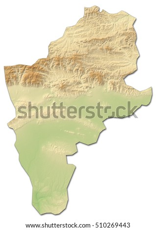 Relief Map Sliven Bulgaria 3drendering Stock Illustration 510269443