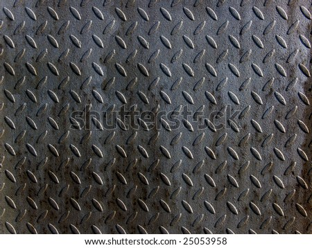 Relief on a metal surface