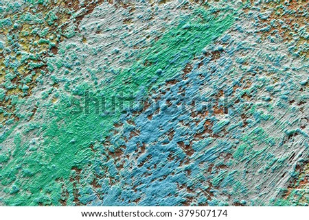 relief structure texture color of  painted surface