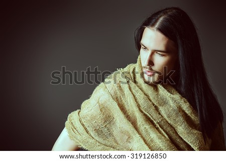 Religion and Christianity. Portrait of Jesus Christ of Nazareth.