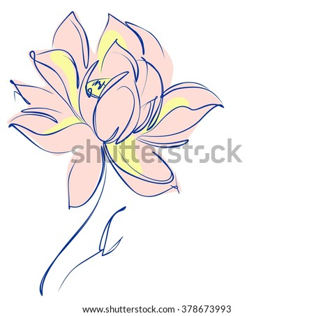 Religion Symbol Lotus Water Lily Lily Stock Illustration 378673993