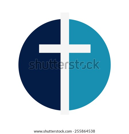 religion. symbol of the crucifix, a cross on a white background - stock photo