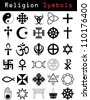 Religion symbols - stock photo