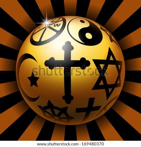 Religious ball - stock photo
