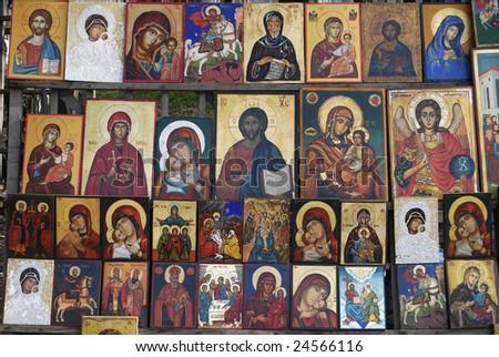 Religious icons 2 - stock photo