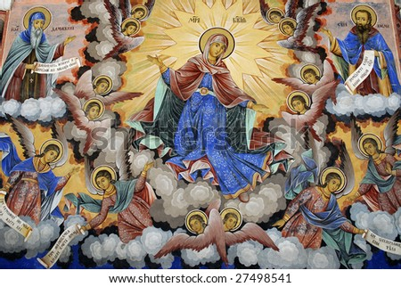 Religious icons and wall art 2 - stock photo