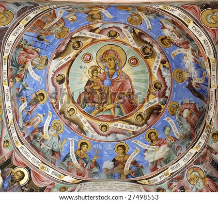 Religious icons and wall art 6 - stock photo