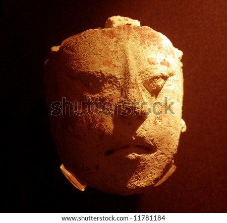 Religious mayan mask - stock photo